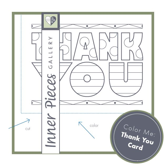 Printable Color Me Thank You Card for Kids Printables for Kids - printable thank you note
