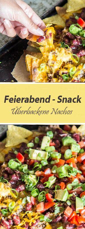 Snack und schnelles Abendessen in einem: Überbackene Nachos sind schnell gemacht, sündig lecker und...