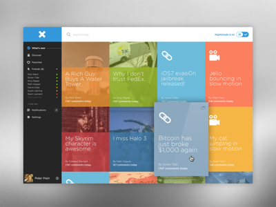 X Ray Front Page Flat Design Colors Web Design Front Page Design