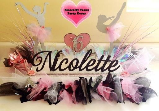 Ballerina Dance Theme Candle Lighting Name Board Sweet 16 Mitzvah Dancer Theme Centerpieces Triad Nc Sweet 16 Ballerina Party Candles
