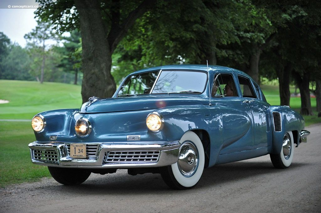 1948 Tucker. Notice the extra headlight in the middle of the front ...
