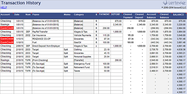 an excel template for every occasion money management management