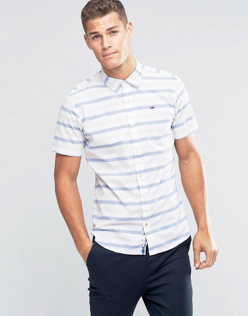 51b3d851 Tommy Hilfiger Denim Poplin Check Short Sleeve Shirt | Coke / Disney ...