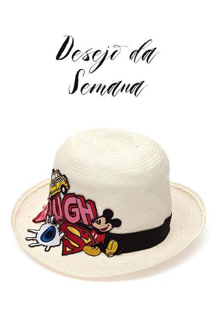 Chapéu Panamá com patches - N.Y.B.D 343556874b3