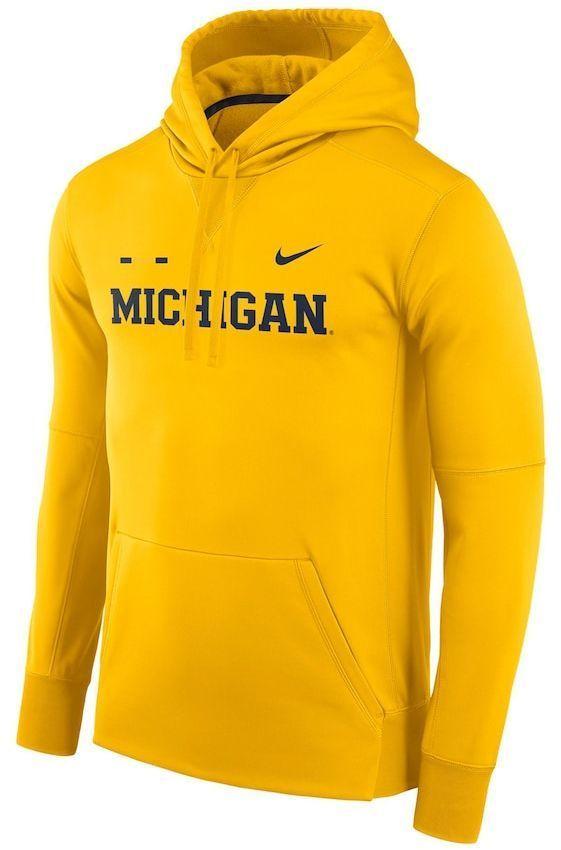 Fit Wolverines Hoodie Therma Men's Nike Michigan wYOqBfZ