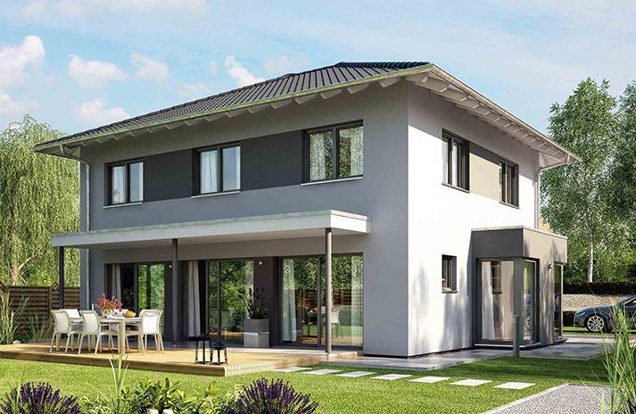 fertighaus medley 400 mit wintergarten und quergiebel haus haus einfamilienhaus und. Black Bedroom Furniture Sets. Home Design Ideas