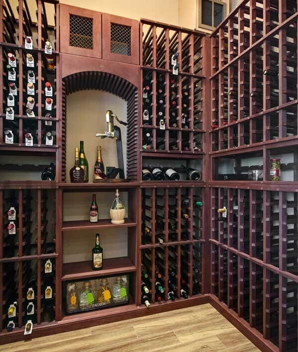 Small Wine Rooms Turn A Room Into The Perfect Wine Storage With Images Wine Room Wine Cellar Small Wine Closet