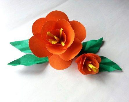 33+ Flower Paper Craft ⋆ crafttel.com #easypaperflowers