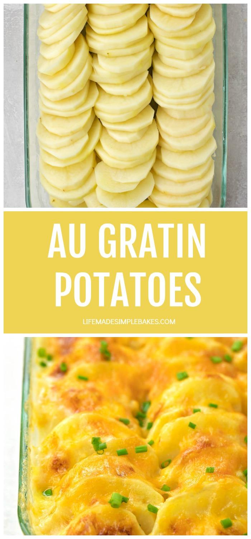 Cheesy Au Gratin Potatoes Recipe Life Made Simple Recipe Potatoes Au Gratin Cheesy Au Gratin Perfect Baked Sweet Potato