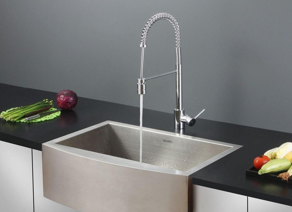 ruvati gold farmhouse sink