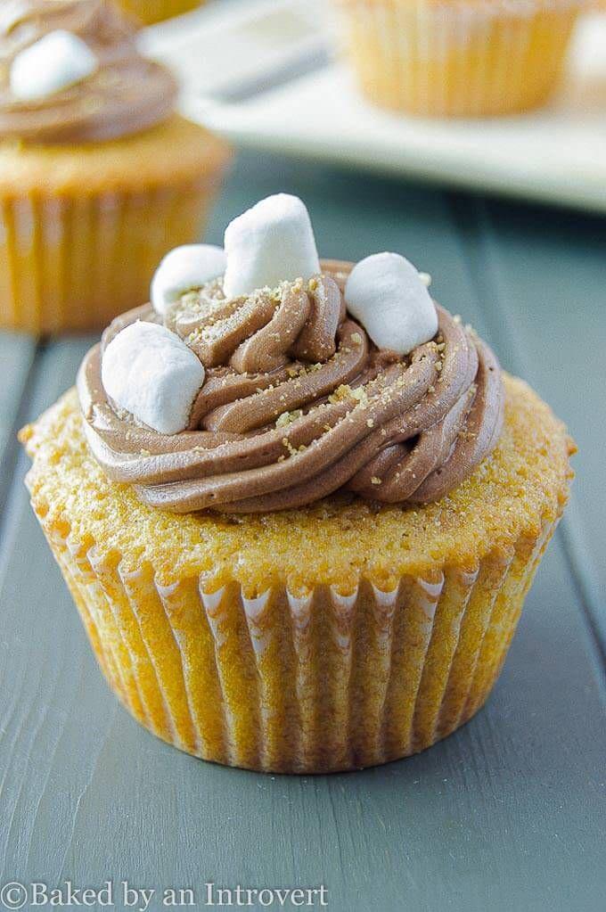 Smores Cupcakes #marshmallowflufffrosting