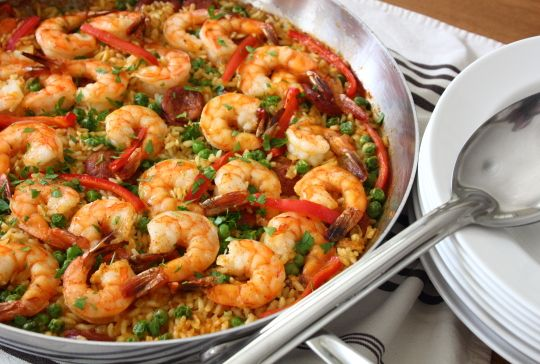 Easy paella recipe with shrimp and sausage tasty food snacks get easy paella recipe with shrimp and sausage tasty food snacks get the recipe forumfinder Choice Image
