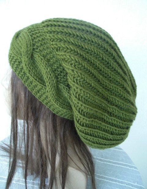 Knitting Pattern Hat Pdf Instant Download Knit Hat Pattern Digital