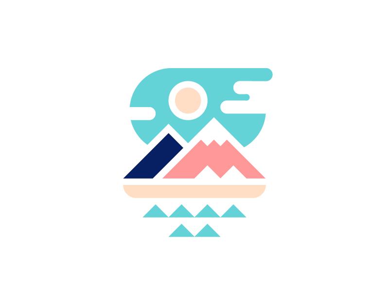 Mountain Range Mountain Range Flat Design Illustration Illustration