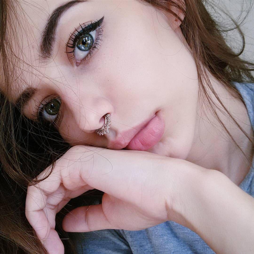 Pretty nose piercing  Simple makeup  Haquila  Pinterest  Simple makeup and Makeup