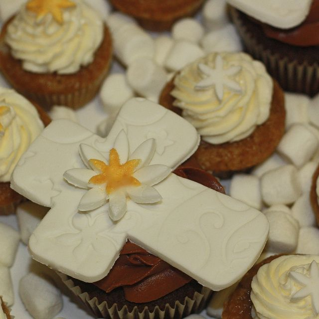 First Communion Christening or Baptism Cupcakes by cushycakes, via Flickr