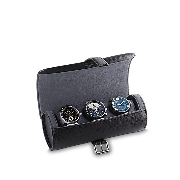 new style a887c 6e4c5 3 Watch Case - Taiga Leather - Travel | LOUIS VUITTON | Travel ...