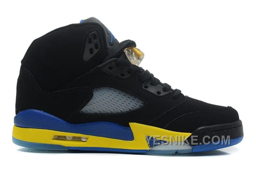 "Air Jordans 5 Retro ""Shanghai Shen"" Black/Varsity Maize-Varsity Royal-Black  For Sale from Reliable Big Discount! Air Jordans 5 Retro ""Shanghai Shen"" ..."