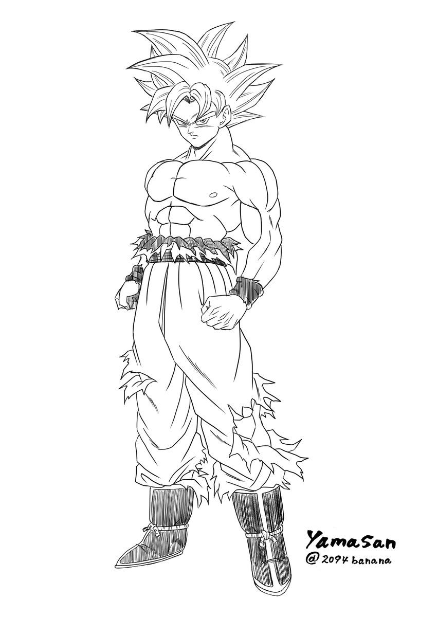 goku ultra instinct coloring pages Mastered Ultra Instinct Goku | black an z | Pinterest | Dragon  goku ultra instinct coloring pages