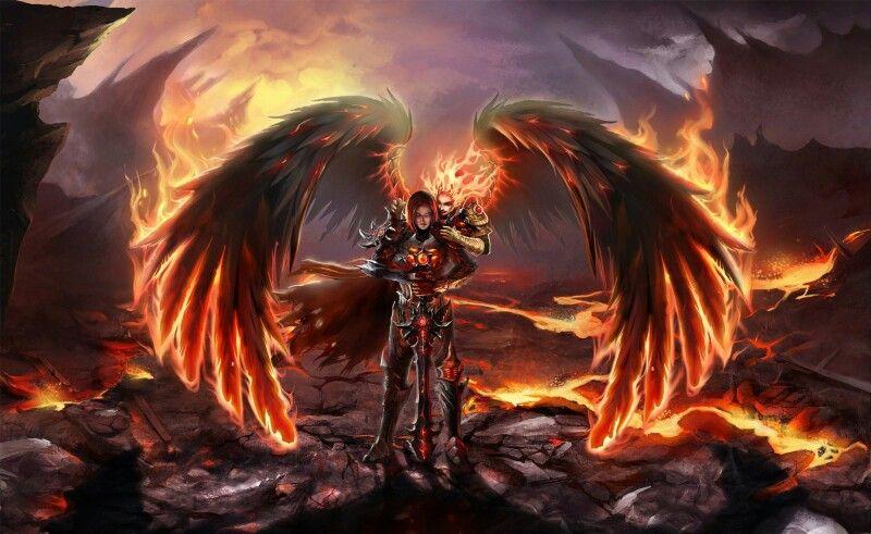 Angel De Fuego Arte De Angel Arte Oscuro Angel Caido