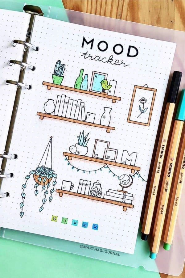 30 Best September Mood Tracker Ideas For Bullet Journals - Crazy Laura