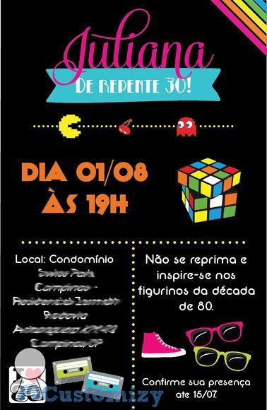 Pin De Dani Pils Em Retro Party 80s 90s Festa Retrô Anos 80