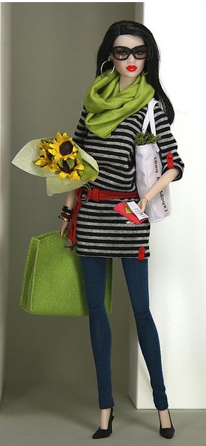 An Integrity Toys doll, either Nu Face or Fashion Royalty. Love the outfit.