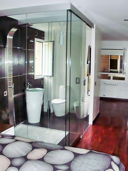 Baños con paredes de cristal | Pared cristal, Decoración ...