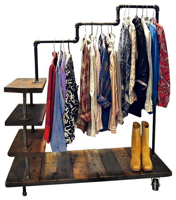 diy clothing rack shelf  DIY Hanging Clothes Racks for Laundry