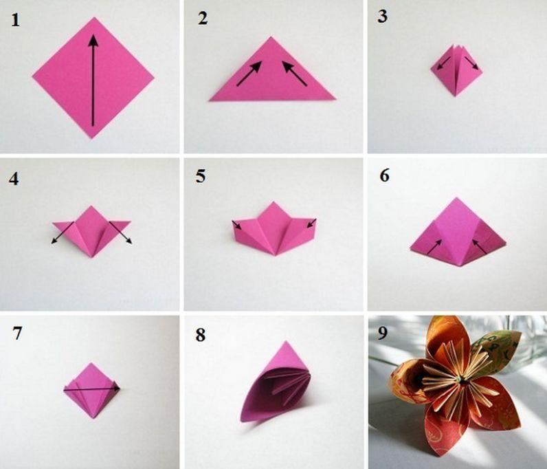 Фото схемы цветка из бумаги