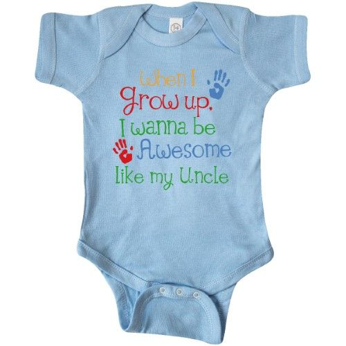 Inktastic Awesome Like Grandma Infant Creeper Grandson Granddaughter My Grow Up