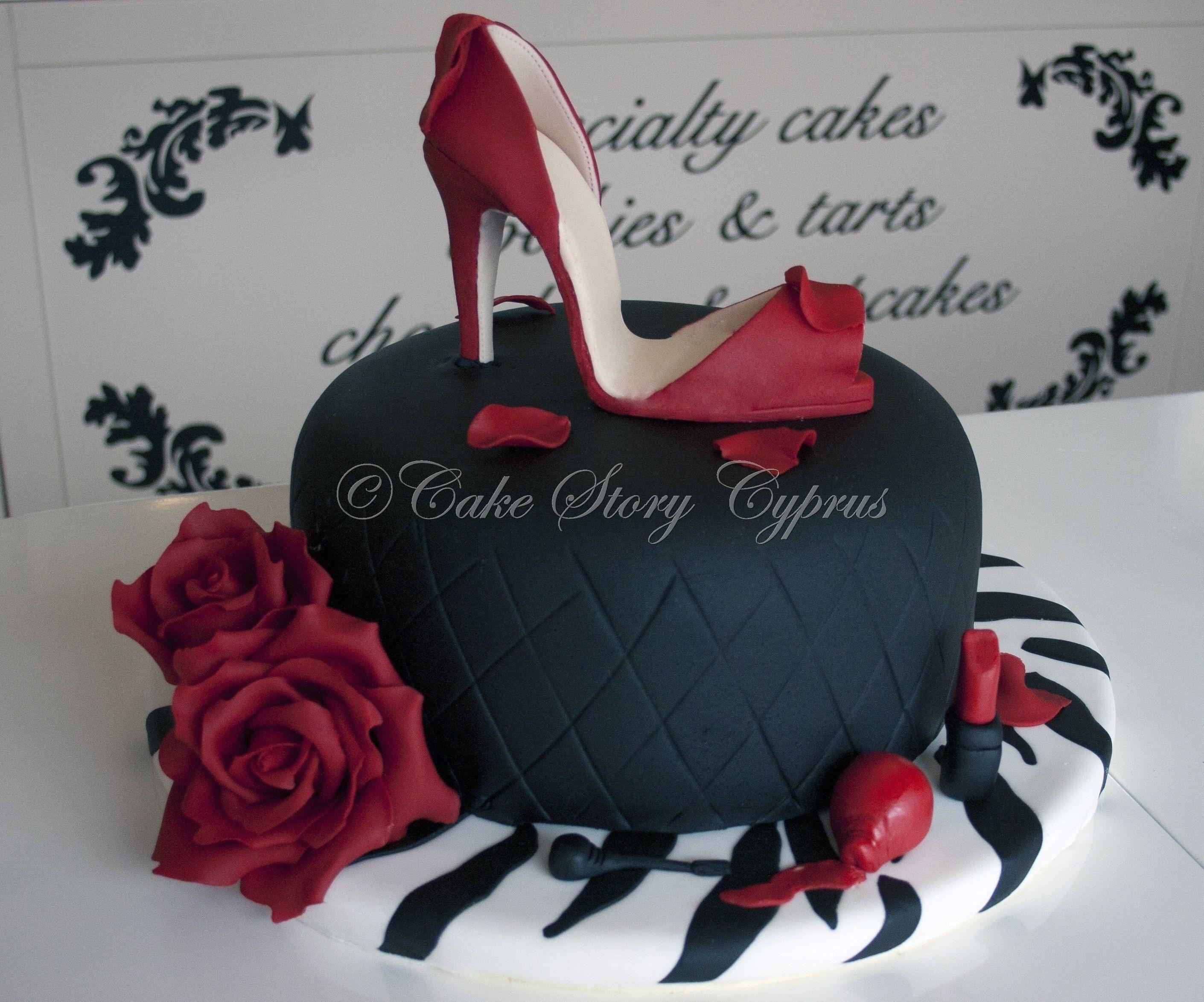 Stiletto shoe birthday cake