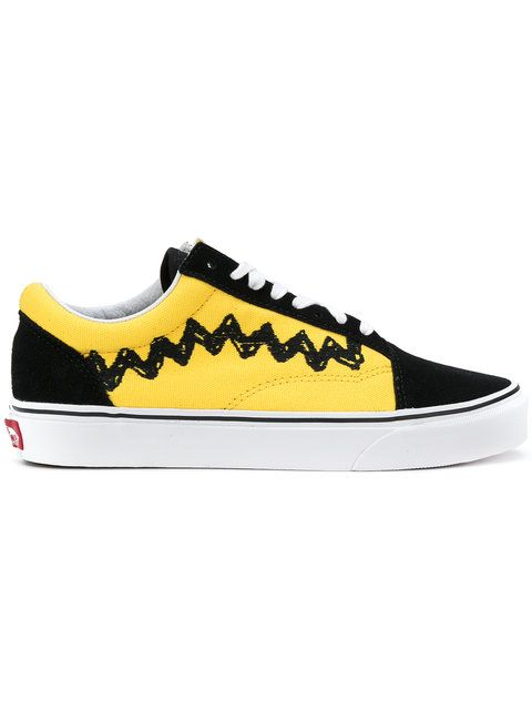 23849104dc8 Shop Vans Vans x Peanuts Charlie Brown Old Skool sneakers.