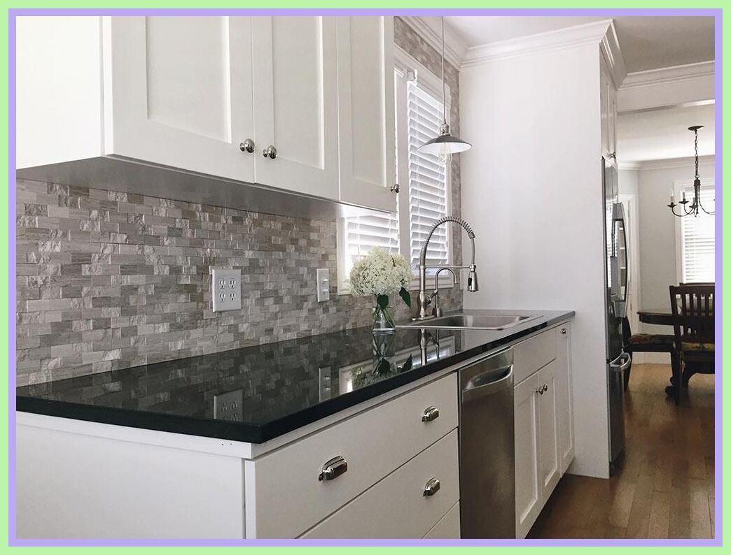 114 Reference Of Black Granite Countertops Kitchen In 2020 Black Kitchen Countertops Modern Kitchen Backsplash Black Granite Kitchen
