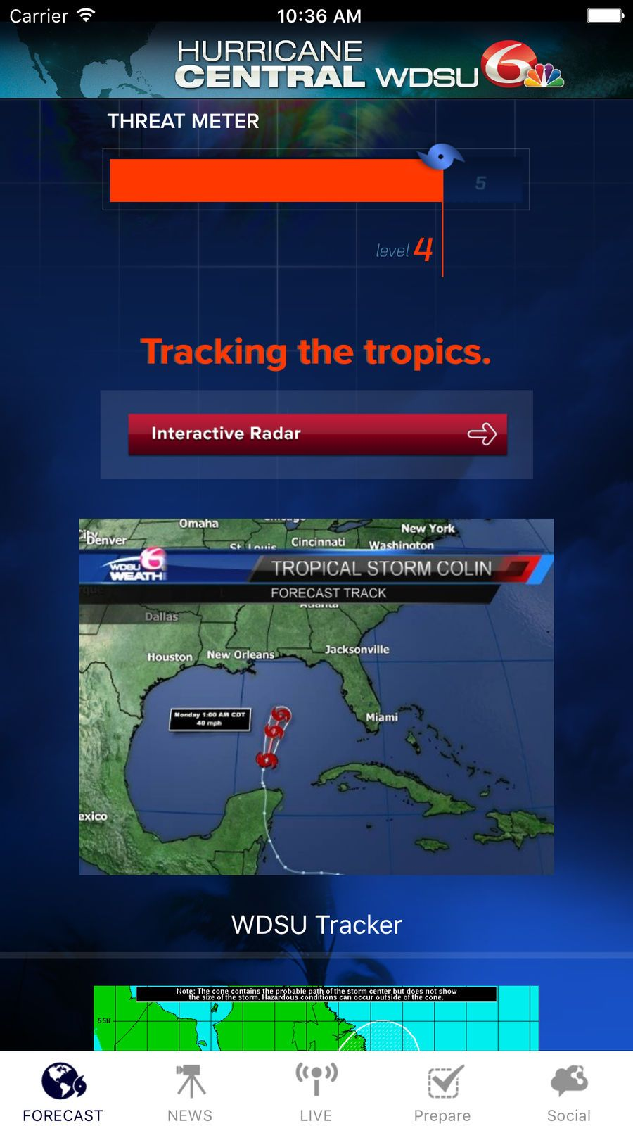 Hurricane Central Wdsu News Weather Apps Ios Hurricane Tropical Storm Game Design