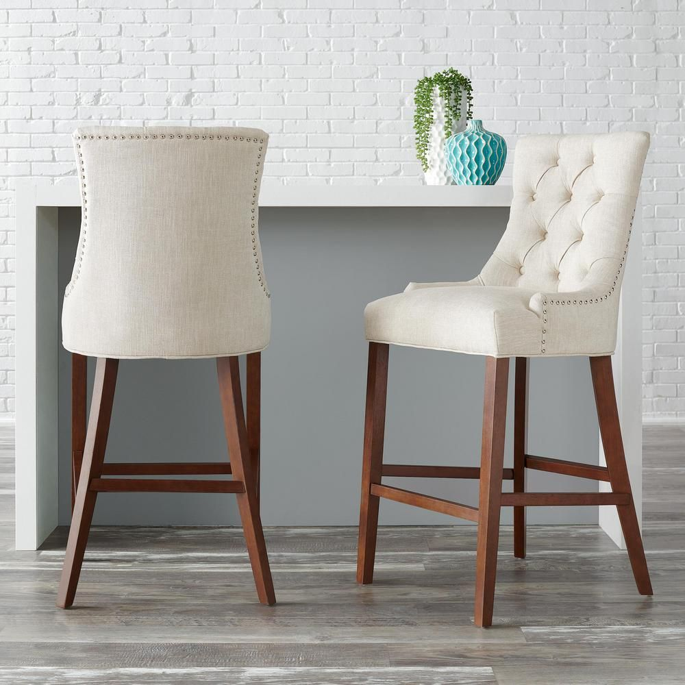 Pin By Hciric On Home Decor In 2021 Upholstered Bar Stools Counter Stools With Backs Stools With Backs