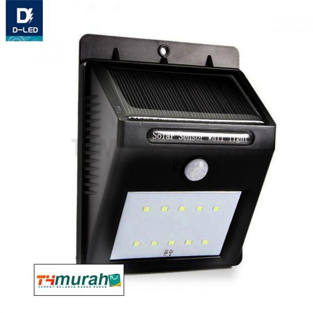 Lampu 10 Led Tenaga Matahari Hemat Energi Otomatis Menyala Dilengkapi Sensor Gerak Cocok Untuk Pagar Dinding Dan Taman Led Lampu Lampu Led
