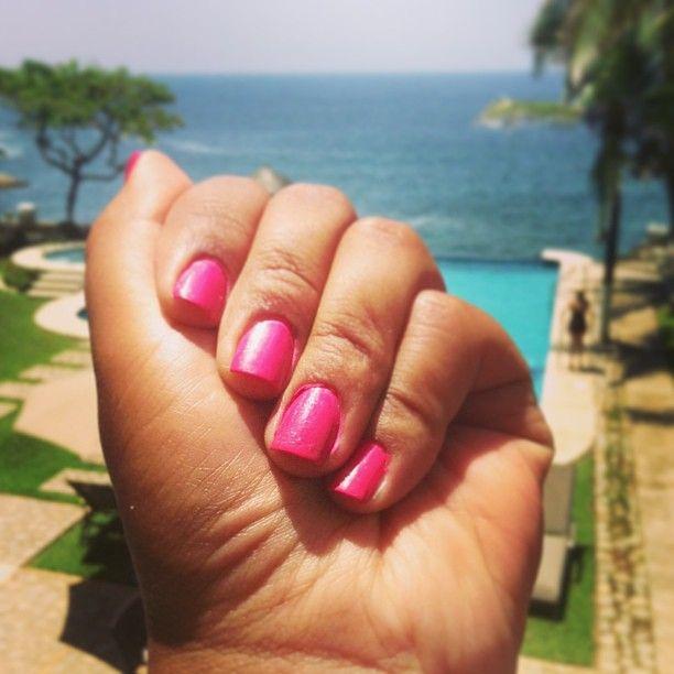 Beach Nails, love pink