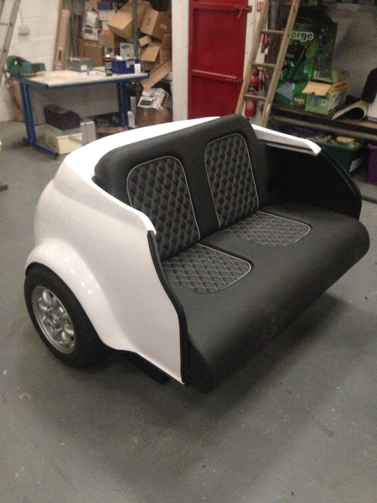 Cars Sofa Chair Harris Tweed Dfs Classic White Mini Cooper Amazing Car Transformed