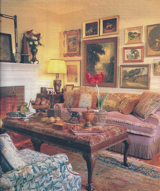 Cottage style meets old-world~   Cottage living rooms ...