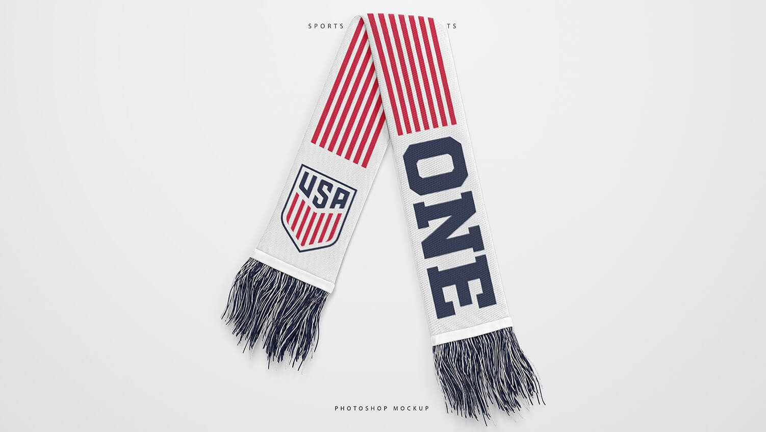 Download Football Sports Scarf Mockup Pack Sports Templates Sports Templates Football Sports