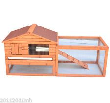 Wood Rabbit Hutch Large Chicken Coop Bunny Cage Small Animal Supply