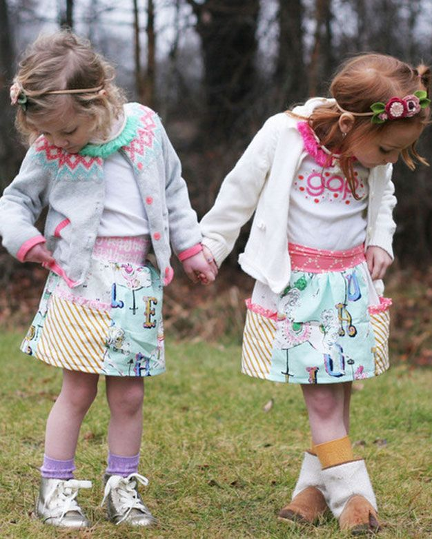 FREE Gracie\'s Pocket Skirt. PDF sewing patterns for girls sizes 2t ...