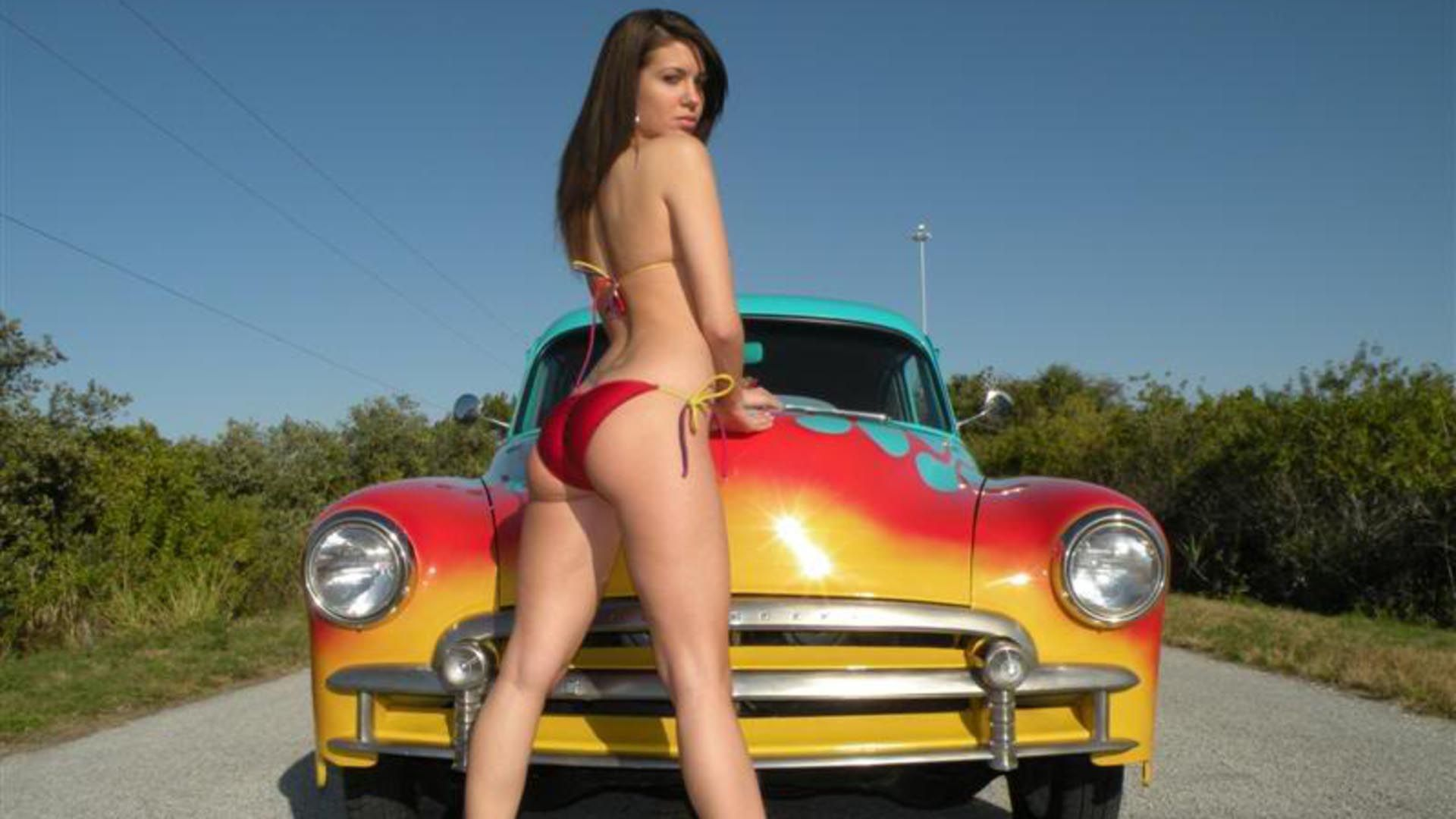 free nude girls with mustang cars