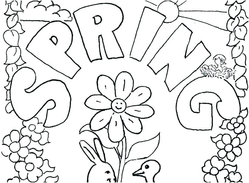 fresh spring coloring pages ideas