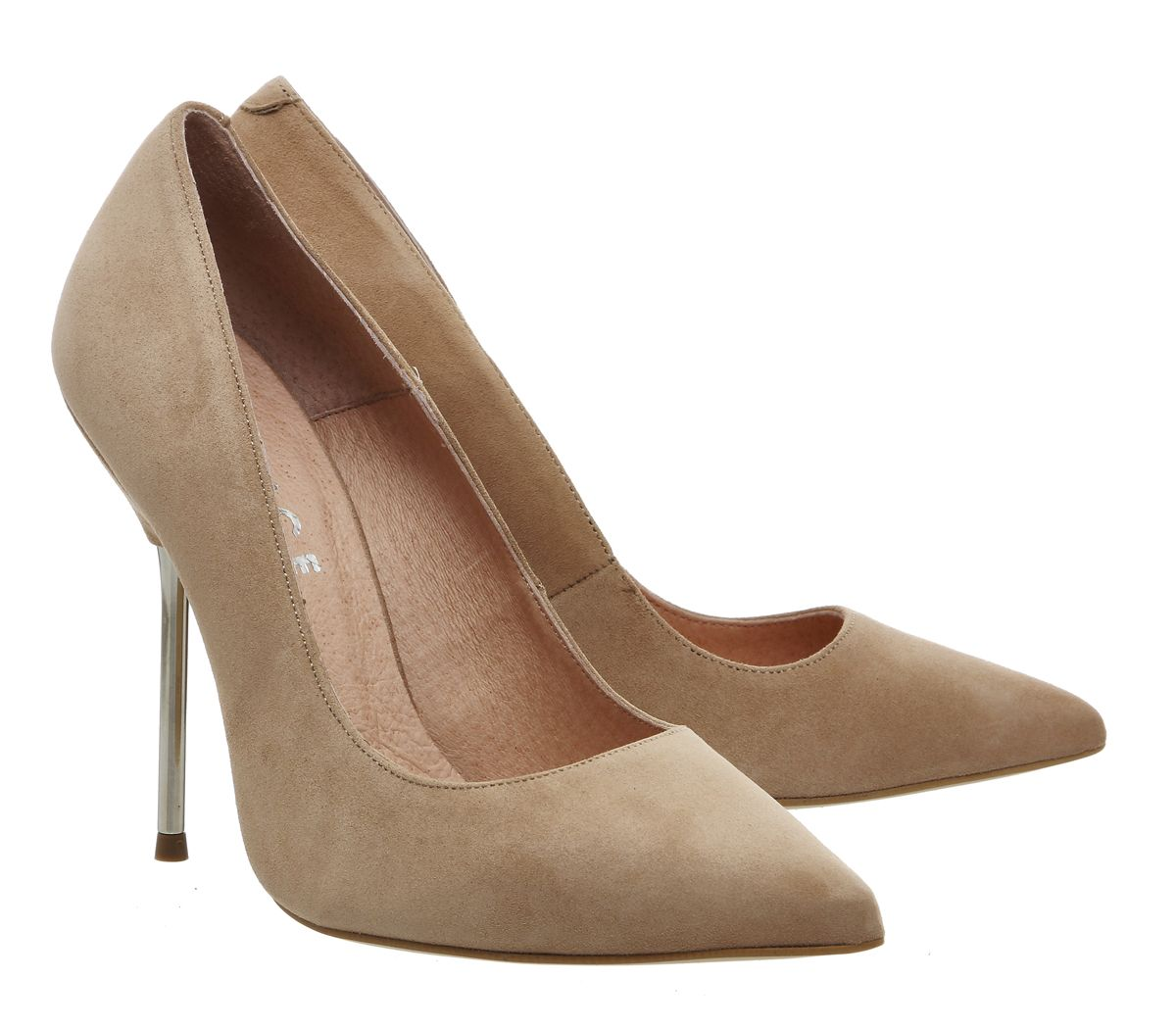a9c0315bd11c3 Buy Nude Kid Suede Office Tune Metal Heel Point Court Shoes from  OFFICE.co.uk.