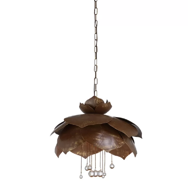 Droplet 6 Light Unique Statement Dome Pendant With Crystal Accents Large Pendant Light Pendant