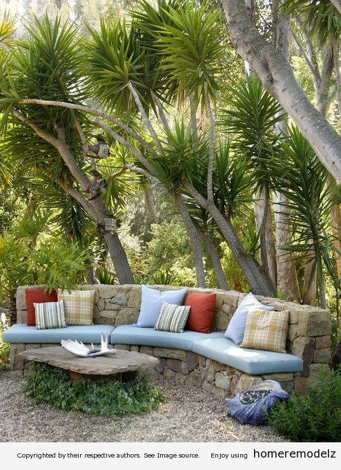 Superb Outdoor Stone Seating Area By Grace Design Associates, Inc.   Outdoor  Living   Pinterest   Stone, Stone Coffee Table And Gardens