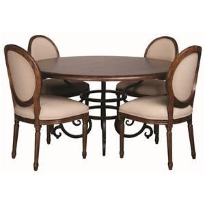 Morris Home Furnishings Middleburg Middleburg 5 Piece Dining Set - Item Number: 90-2175/89/2496(4)