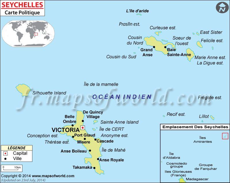 Carte Du Seychelles Mapsinfrench Cartedumonde Mapas